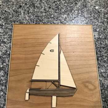 Sail boat wood plaque for daughters birthday