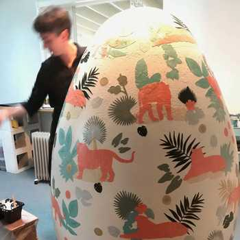 So I had to decorate a 5' tall Easter egg