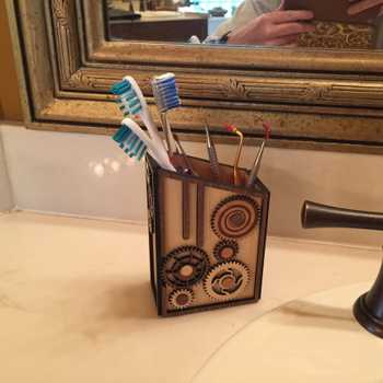Gear Box Toothbrush Holder
