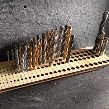 Drill bit organizer for the shop